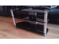 Tv stand 33inch black glass in good condition 3 tier.