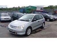 2003 (03 REG) Honda Civic 1.6 i VTEC Inspire S 5dr Hatchback FOR £495, 12 MONTHS MOT ON SALE
