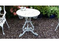 Georgian Style Cast Iron Aluminium Metal Garden Patio Conservatory Table