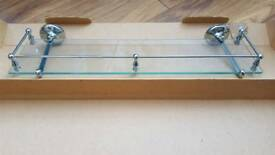 Tempered Glass Bathroom Shelf