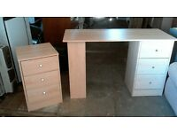 Desk and small side drawers