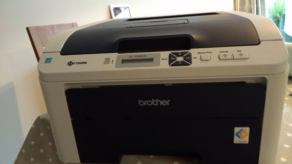 Brother HL-3040CN network colour and black and white printer with toner