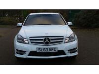 2013 63 MERCEDES-BENZ C CLASS 2.1C220CDI BLUEEFFICIENCY AMG SPORT PLUS AUTO*WHITE*FINANCE AVAILABLE