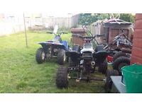 250cc pitbike &2x 2/ quads