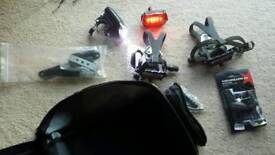 Bicycle lights /pedals/bag
