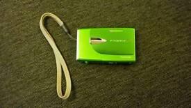 Green Fujifilm Finepix Z compact camera