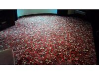 Axminster florence red persian carpet