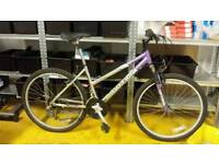 "16"" frame ladies mountain bike."