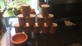 The Revised Suffolk Cannister - 12 Pieces - Herb Pots