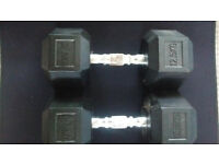 Pair of 12.5kg York Hexagonal Weights