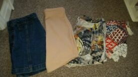 Size 4 ladies shorts and skirt