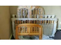 Brand new solid pine baby cot bed