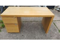 Large desk with 1 drawer and 1 cupboard