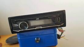 Great condition jvc car radio with aux and usb
