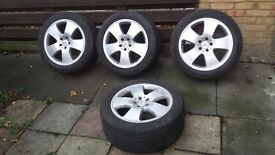 """18"""" Mercedes S Class Genuine S350 S500 W221 Alloy Wheels (£300) + Tyres_Other car parts available"""