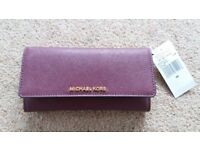 Michael Kors wallet Jet Set Purse Plum