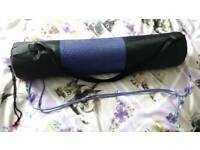 Yoga Pilates mat new/unused purple carry case