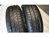 175 65 14 2 x tyres Bridgestone B391
