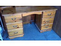 Chunky farmhouse pine dressing table