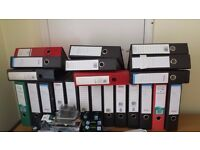 Lever Arch files: A4 size: good used condition. Total of 22