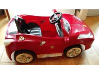 Electric ride on RED kids toy car in good condition. £50.00