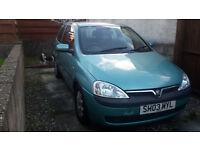 Vauxhall Corsa Club 1.2 2003 - Full V5, Remote key & spare key
