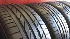 SET of 4 RUNFLAT ~~~ 255/50R19 Bridgestone Dueler HP ~~~ BMW X5 X6 Original ~~~ SUMMER ~~~ 85%tread