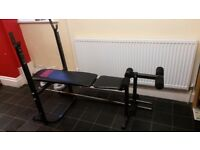 Bench press and a bench bar