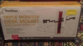 """27"""" TRIPLE MONITOR DESK MOUNT (VonHaus)"""