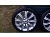 """4 22 """" Range Rover stormer wheels and tyres"""