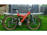 Raleigh MX full suspension mountain bike