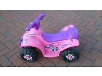 Small Girls electric motorised quad bike + charger