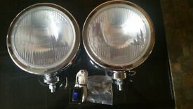 Maxtel 8 inch spotlights with cable connections and switch