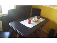For sell dining table and 4 chairs