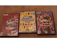 3 x Sims 2 PC games
