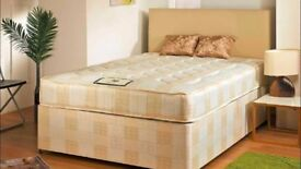 === BRAND NEW==SAME DAY DELIVERY == DIVAN BASE WITH MEMORY FOAM SPRUNG MATTRESS 11 INCHES THICKNESS