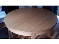 Round/Oblong Ikea Oak Veneer Table Seats 4-6 (8) NEEDS TO GO TODAY