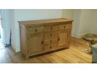 Large Oak Sideboard 6 drawer + 2 cupboard