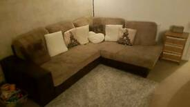 Large pull out corner sofa