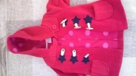 Next girls duffle coat 9-12 months