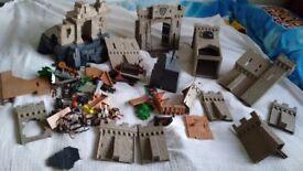 Playmobile castle and island bundle no