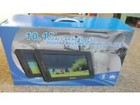 "Portable DVD Player - Two Screens, 10.1"" inch,"