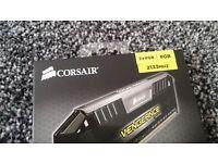 Corsair Vengeance Memory 8gb DDR3 2x4gb RAM silver 2133mhz