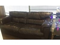 3 / 4 seater leather sofa very good quality