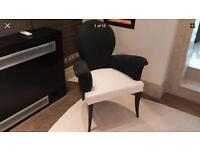 A pair of Italian Designer Chairs by Roberto Ventura RRP £895 each