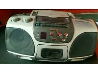 Stereo, cd and cassette player