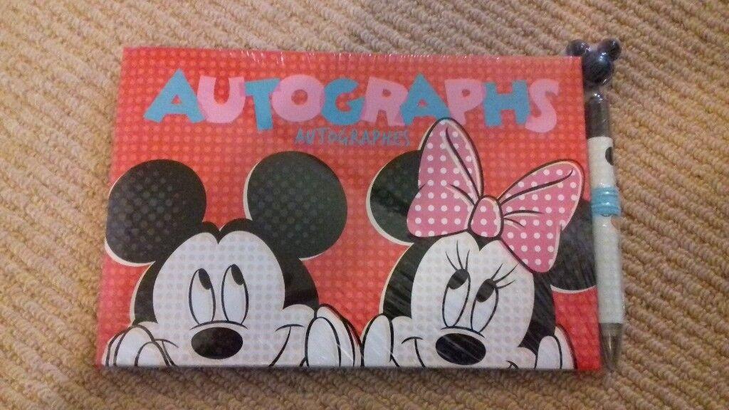 Disney Autograph Book and Pen -New still in wrapper.