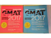 GMAT Verbal & GMAT Quantitative Review 2017 with unused online videous - Looking as almost new books
