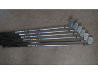 Set of left-handed golf irons for sale
