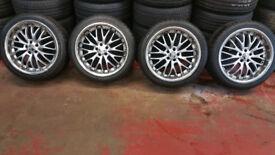 Team Dynamics Racing 18'' alloy wheels + 4 x tyres 235 40 18 Vw-Audi-Skoda-Seat-Toyota
